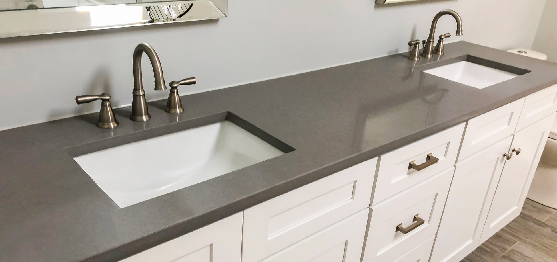Grey Granite Bathroom Vanity Top